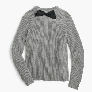 J. Crew Factory Gray Bow Neck Sweater Large